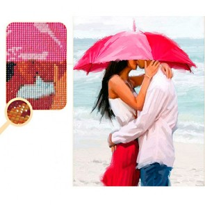 BESO JUNTO AL MAR BORDADO CON DIAMANTES