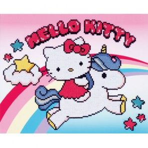 HELLO KITTY Y EL UNICORNIO CON DIAMANTES