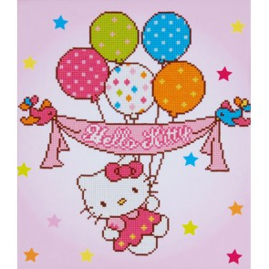 HELLO KITTY Y GLOBOS CON DIAMANTES