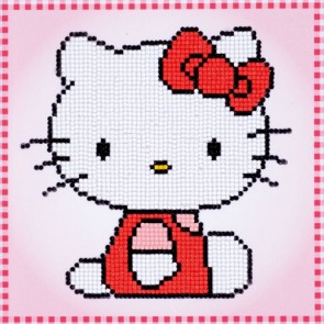 RETRATO HELLO KITTY CON DIAMANTES