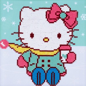HELLO KITTY EN LA NIEVE CON DIAMANTES